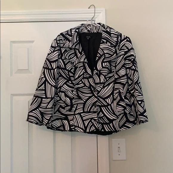 Rafaella Jackets & Blazers - Black and white summertime blazer